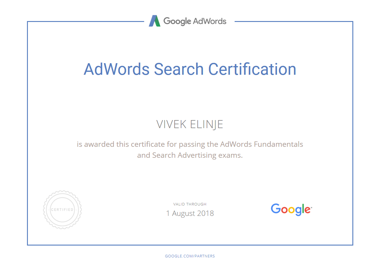 Google AdWords Certified Partner In Nashik
